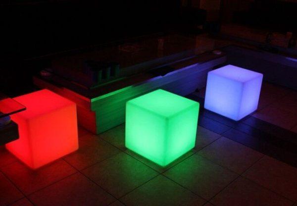 20cm LED Cube Seat