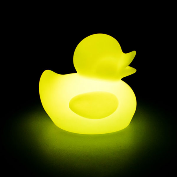 light plastic yellow duck