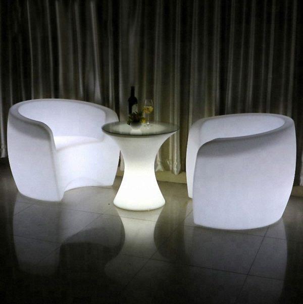 led garden light chair