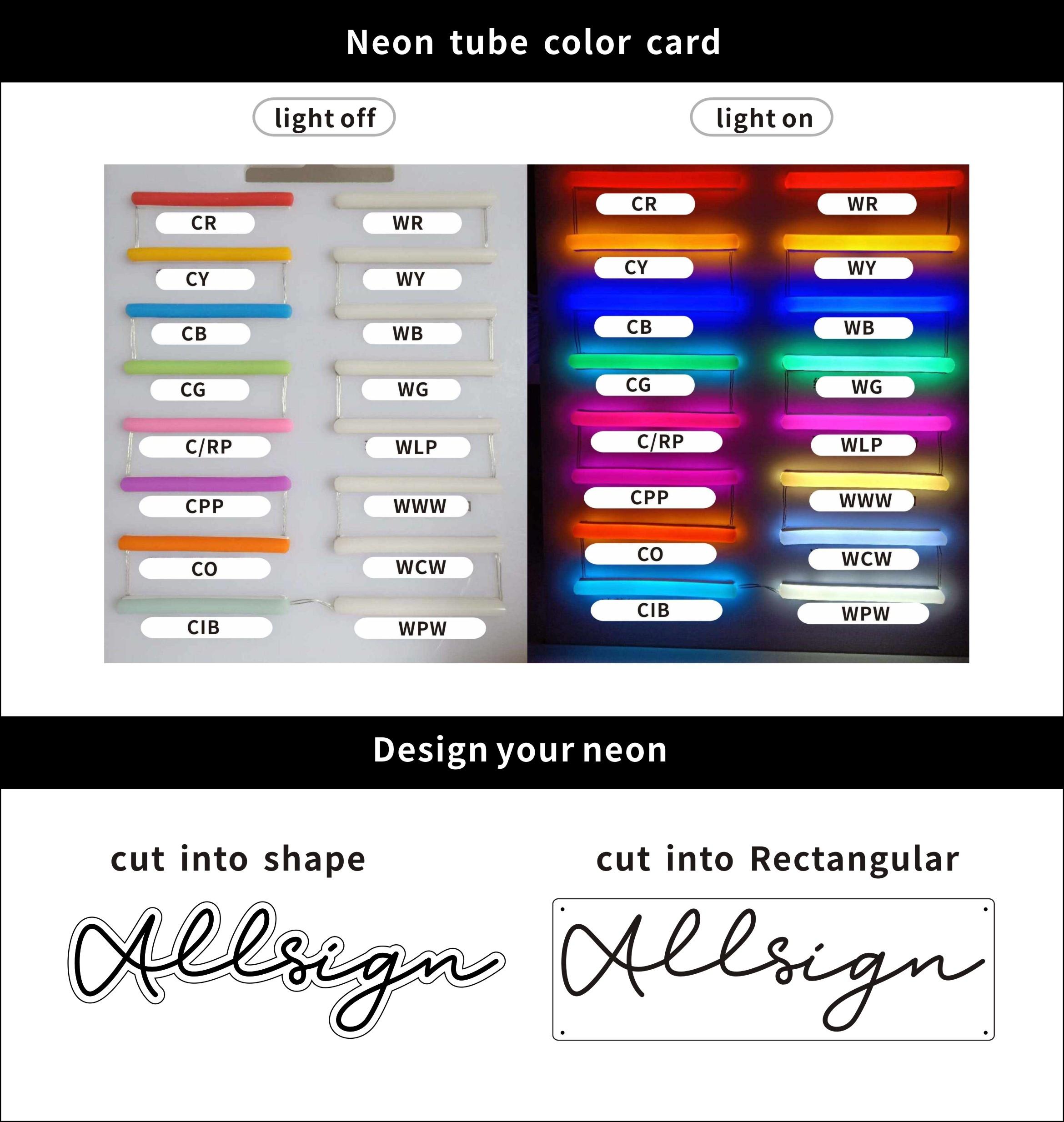 Neon Sign Color Board