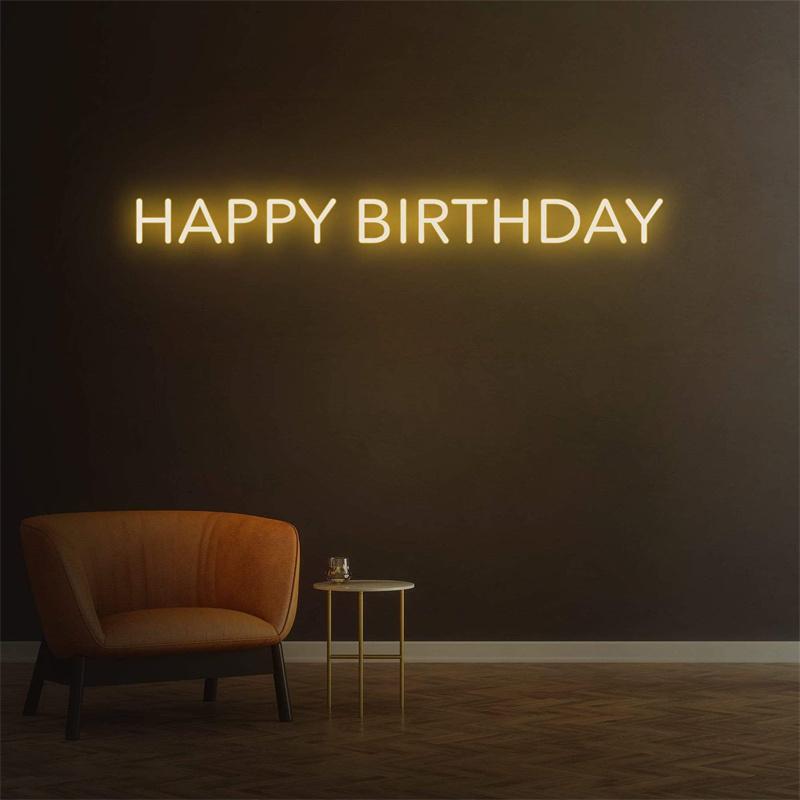 Neon Sign Happy Birthday