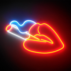 Neon Sign Red Lip