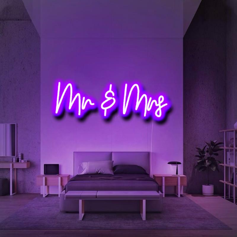 Custom Mr & Mrs neon