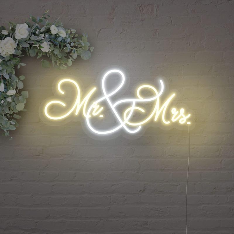 Mr & Mrs neon led