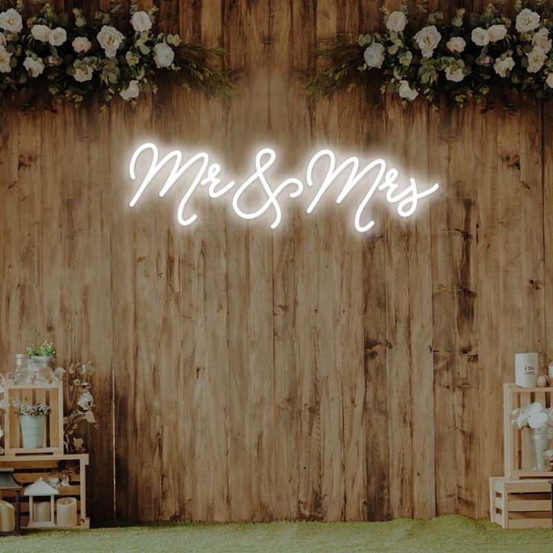 Mr & Mrs neon