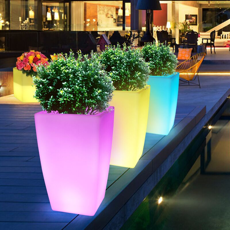 LED Flower Pot Outdoor