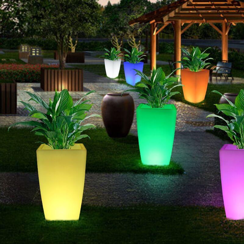 LED Flower Pots Outdoor