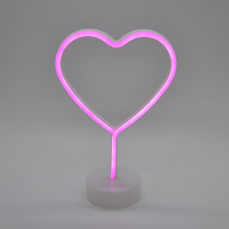 neon light heart