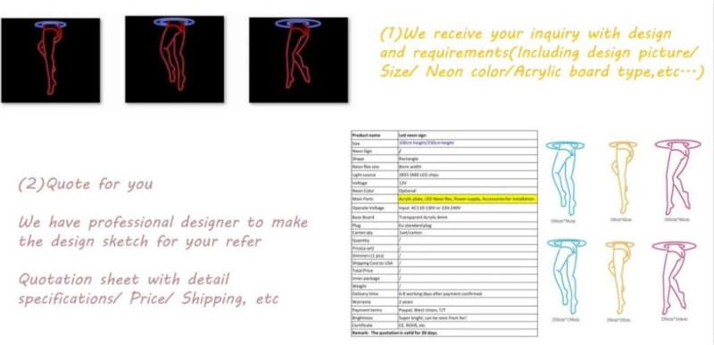 How to order Neon Sign