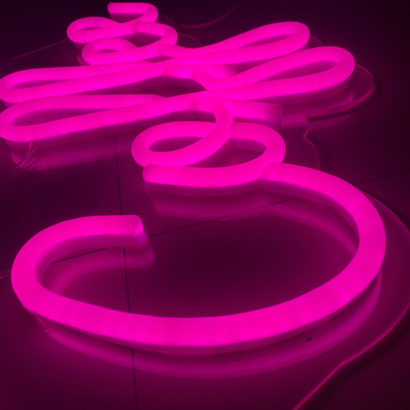 neon sign letters