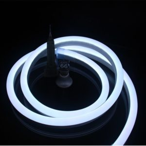Arrefecer tiras brancas da luz de néon