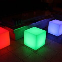 Asiento 20cm LED Cube