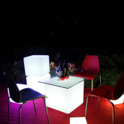 Asiento 40cm LED Cube