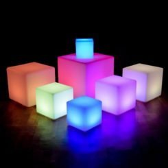 Asiento 60cm LED Cube