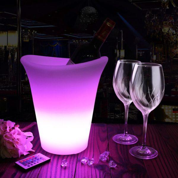 LED wine ice bucket