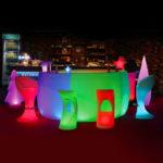 led bar table plastic