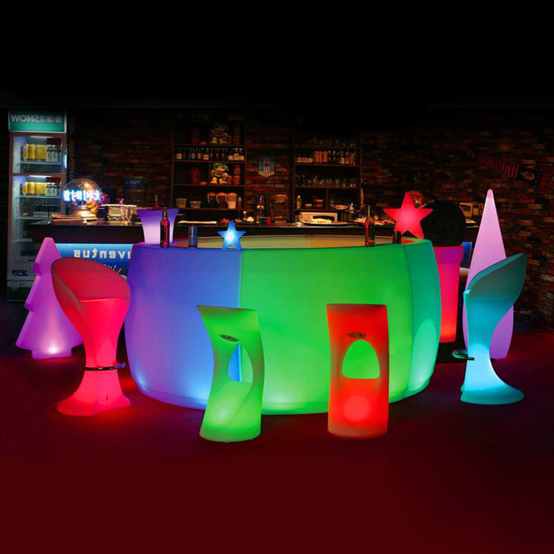 led bar table plastic