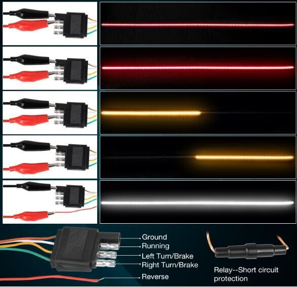 sequential led turn signal strip light
