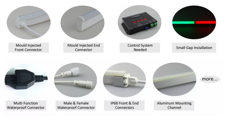 DMX-Neon-LED Flex Accessoriess
