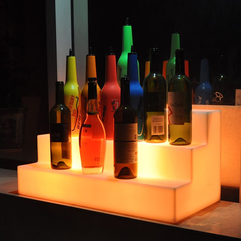 Glowing LED Bottle Stand