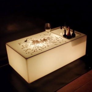 led ice bucket bar table