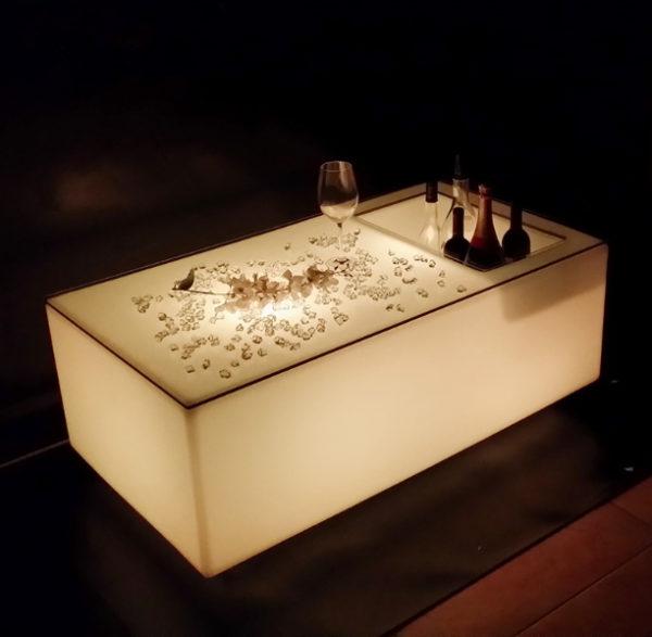 led ice bucket bar table