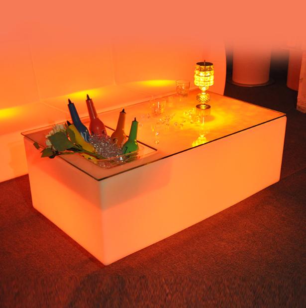 led ice bucket table