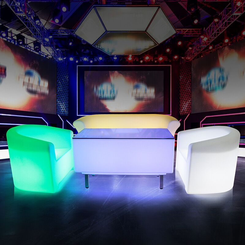 led lighted table and chair