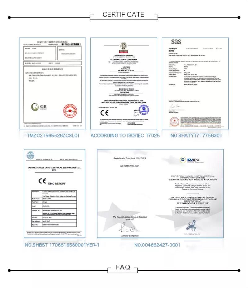 Neon Sign Certifications