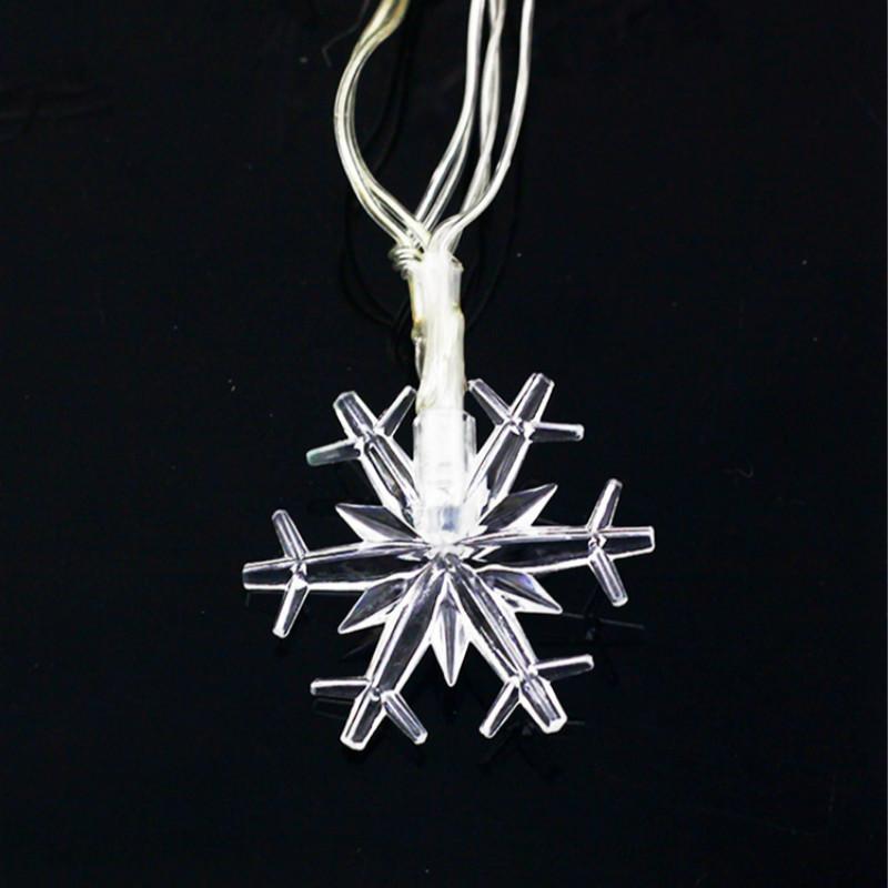fall snow led string