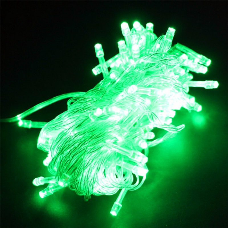 green led string
