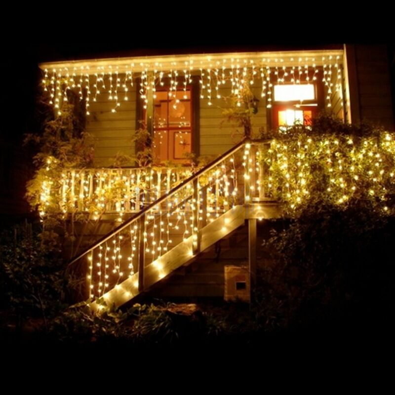 led curtain lights string