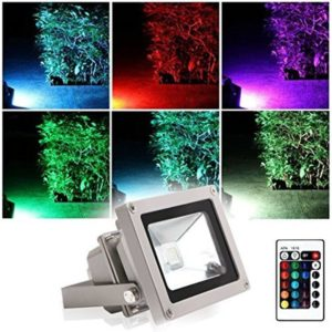 rgb led flood light outdoor 10w