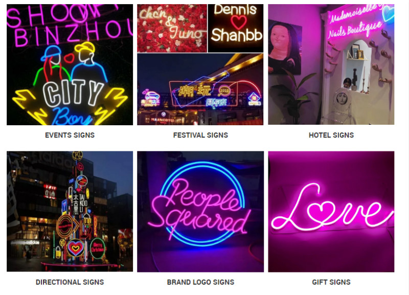 Neon Sign Applications