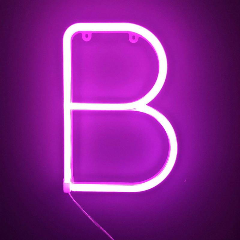 Pink Letter B