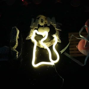 neon cat light