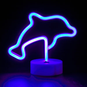 dolphin neon light
