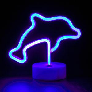 dauphin lumière néon