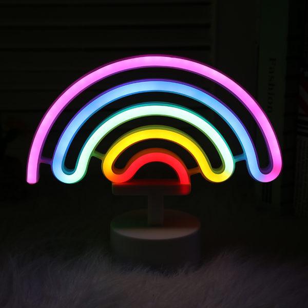 rainbow neon