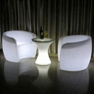 led garden light chair