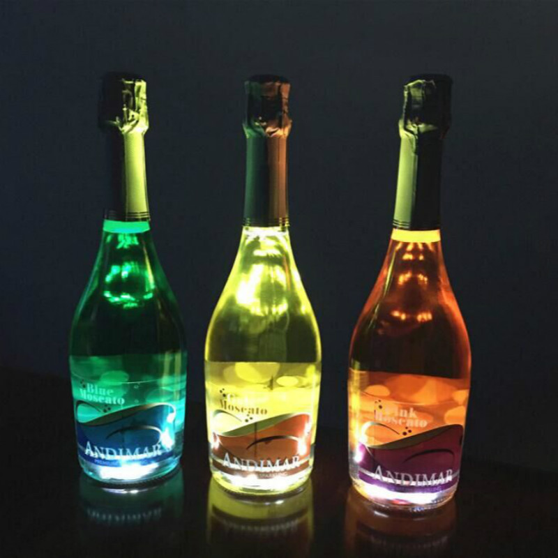 led bottle light with 3m sticker